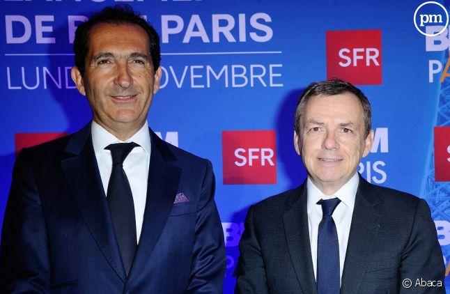 Patrick Drahi et Alain Weill.
