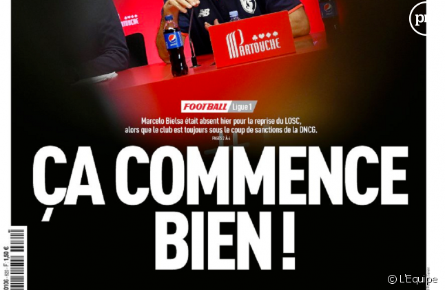 """La Une de """"L'Equipe"""" agace les internautes."""