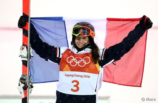 Perrine Laffont, première médaille d'or française des JO d'hiver.