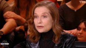 """Affaires sexuelles : Gros malaise lors de l'interview d'Isabelle Huppert dans """"Quotidien"""""""