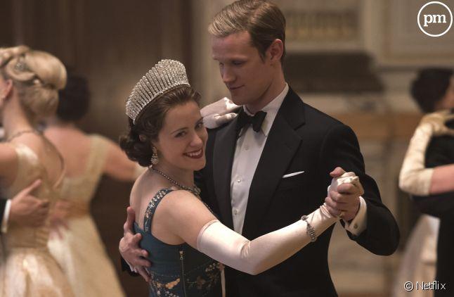 """Claire Foy et Matt Smith dans """"The Crown"""""""