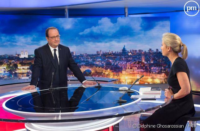 François Hollande et Anne-Sophie Lapix