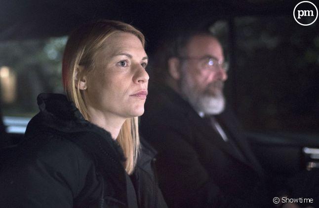 """Claire Danes et Mandy Patinkin dans """"Homeland"""" saison 7"""