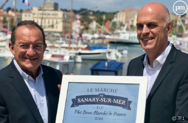 Jean-Pierre Pernaut et le maire de Sanary-sur-Mer