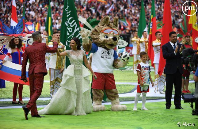 Cérémonie d'ouverture de la Coupe du monde en Russie.