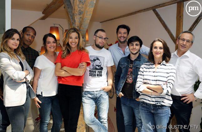 """Claire Barsacq et l'équipe de """"On n'est plus des pigeons !"""""""