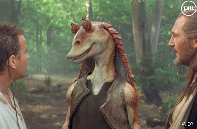 Jar Jar Binks au centre