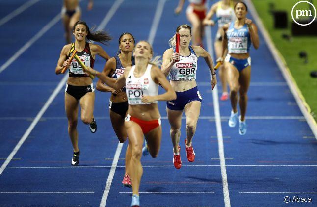L'équipe de France a remporté la médaille d'argent lors du relais 400 mètres féminin.