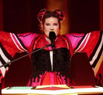 La chanteuse israëlienne Netta, vainqueur de l'édition...