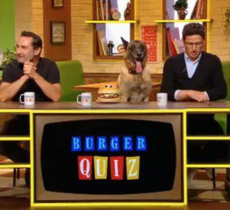 Un candidat qui a du chien dans 'Burger Quiz'