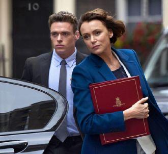 Richard Madden et Keeley Hawes dans 'Bodyguard'