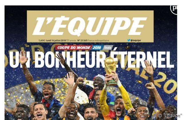 """""""L'Equipe"""" en forte hausse grâce à la Coupe du monde de football."""