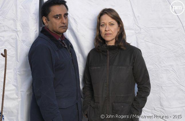 "Sanjeev Bhaskar et Nicola Walker dans ""Unforgotten"""