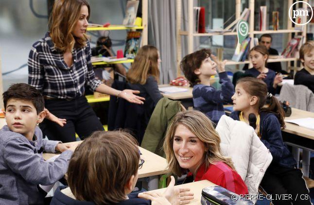 """Caroline Delage et Melissa Theuriau dans """"Au tableau !"""""""