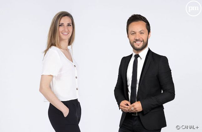 """Marie Portolano et Karim Bennani dans """"L'info du sport"""""""