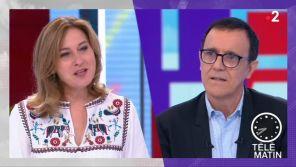 """""""Télématin"""" : Thierry Beccaro ému par l'hommage d'une de ses chroniqueuses"""