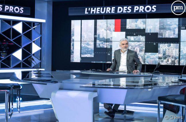 """Pascal Praud sur le plateau de """"L'heure des Pros"""""""