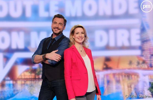 """Olivier Minne et Sidonie Bonnec sur le plateau de """"Tout le monde a son mot à dire"""" sur France 2"""