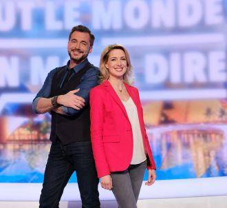 Olivier Minne et Sidonie Bonnec sur le plateau de 'Tout...