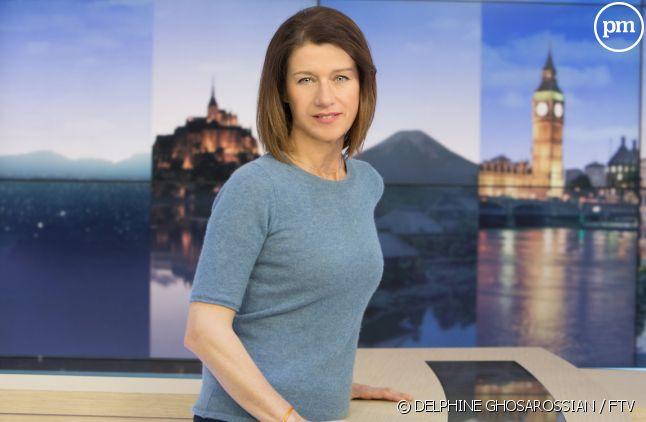 """Carole Gaessler sur le plateau du """"19/20 national"""" de France 3"""