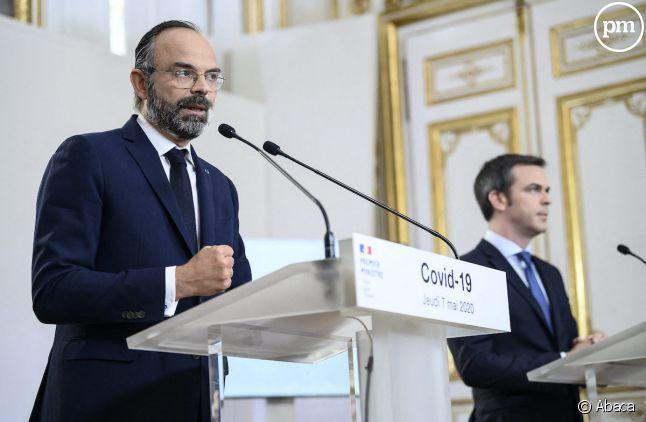 Edouard Philippe et son ministre Olivier Véran