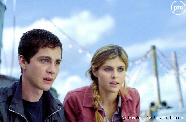 "Logan Lerman et Alexandra Daddario dans ""Percy Jackson : La mer des monstres"""