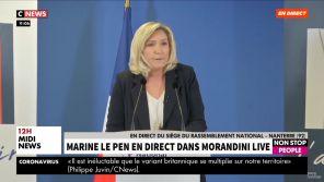 """Marine Le Pen appelle les journalistes à ne pas être """"des chasseurs de petites phrases"""" et des """"pêcheurs de punchline"""""""
