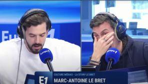 Europe 1 : Arnaud Tsamère pleure de rire face à Marc-Antoine Le Bret