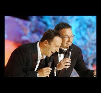 Arthur et Julien Courbet sur le plateau de '120 minutes...