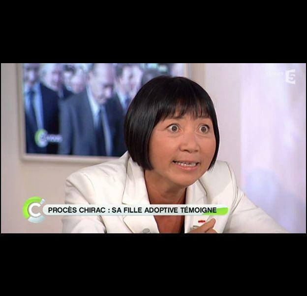 """Anh Dao Traxel, fille adoptive de Jacques Chirac, dans """"C a vous"""" le 7 septembre 2011."""