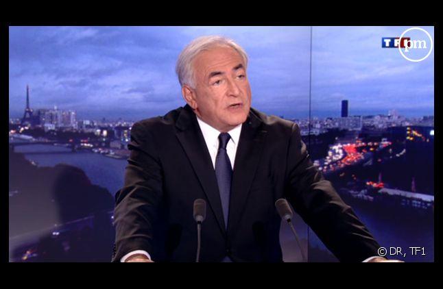 Dominique Strauss-Kahn, sur le plateau du 20 heures de TF1 le 18 septembre 2011.
