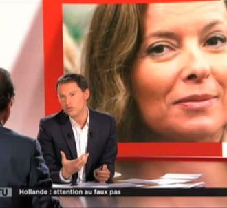 François Hollande et Marc-Olivier Fogiel dans 'Face à...