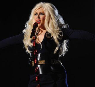 Christina Aguilera lors du concert hommage à Michael...