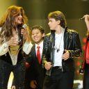 LaToya Jackson et les enfants de Michael lors du concert hommage à Michael Jackson le 8 octobre 2011