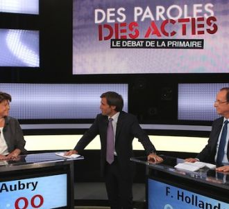 David Pujadas arbitre le débat entre Martine Aubry et...