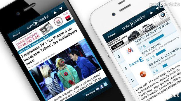 L'appli Puremédias.com disponible sur l'iPhone et l'Android Market.