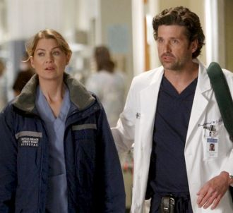 Ellen Pompeo et Patrick Dempsey dans 'Grey's Anatomy'...