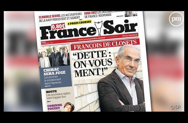 Le titre France Soir.