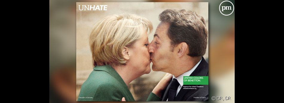 """Allemagne/France, la nouvelle campagne """"Unhate"""" de la marque Benetton."""