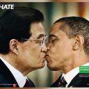 "Chine/USA, la nouvelle campagne ""Unhate"" de la marque Benetton."