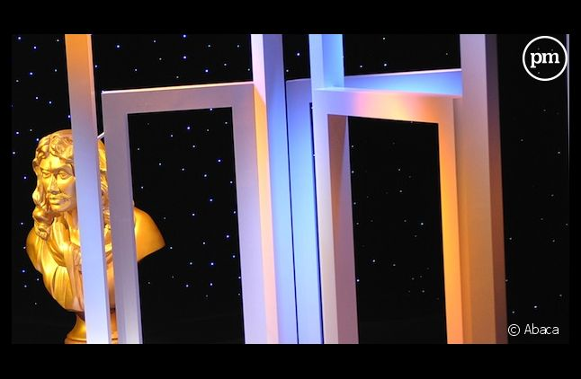 Le décor de la cérémonie des Molières, en 2010