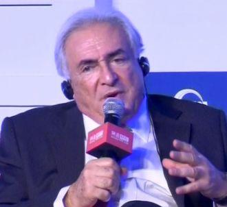 Dominique Strauss-Kahn s'exprime lors d'un forum...