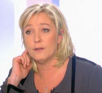 Marine Le Pen face à Anne-Sophie Lapix.