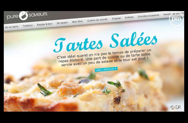 Puresaveurs.com, l'un des quatres sites lancés par Webedia.
