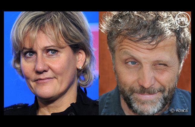 Nadine Morano et Stéphane Guillon.