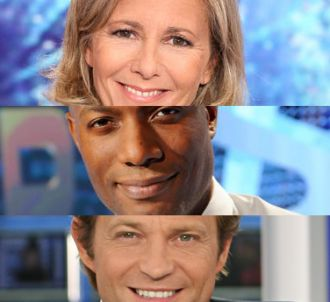Claire Chazal, Harry Roselmack et Laurent Delahousse.