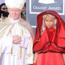 Nicki Minaj sur le tapis rouge des Grammy Awards 2012