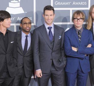 Maroon 5 sur le tapis rouge des Grammy Awards 2012