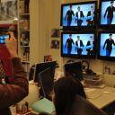 A la rédaction, quatre écrans permettent à une partie des 70 collaborateurs de suivre la 500ème en direct.