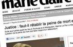 """""""Marie Claire"""" crée la polémique après un débat sur la peine de mort"""